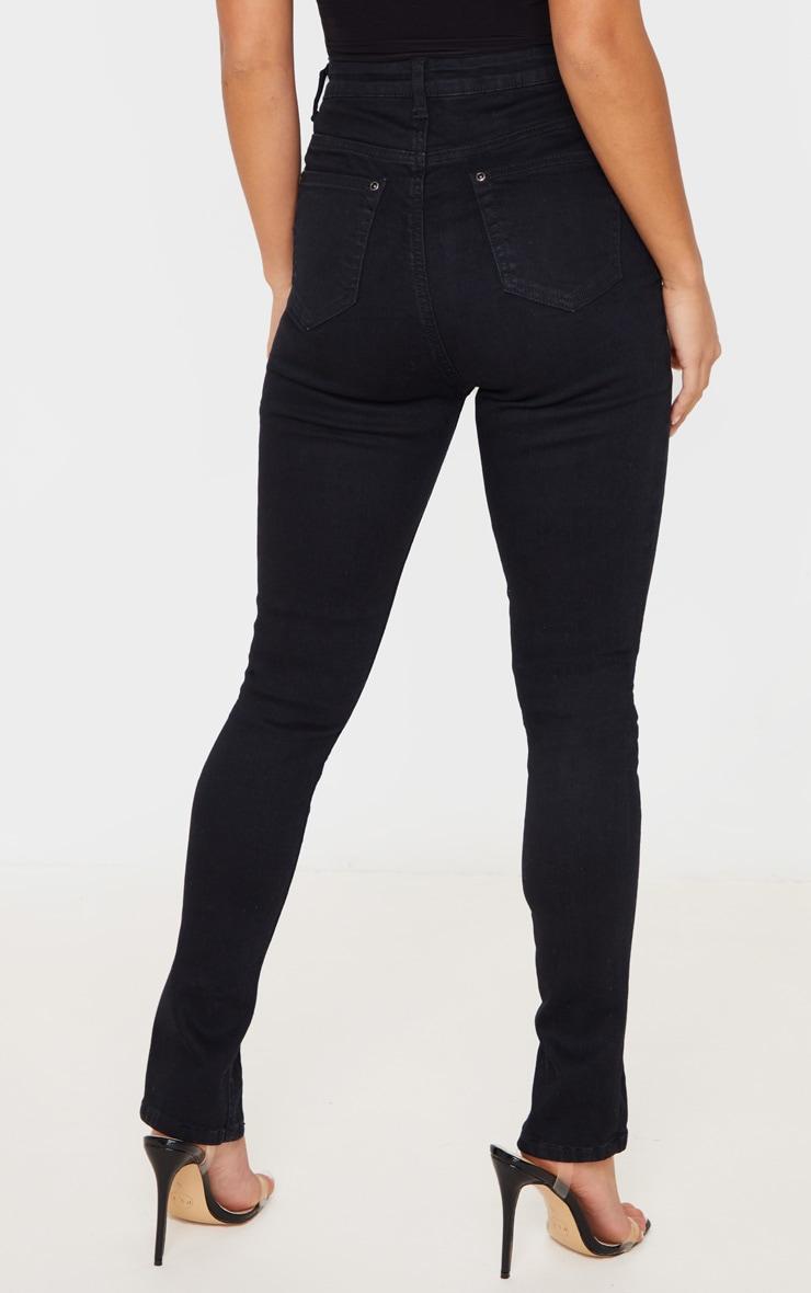 Petite Black Split Front Skinny Jean 4