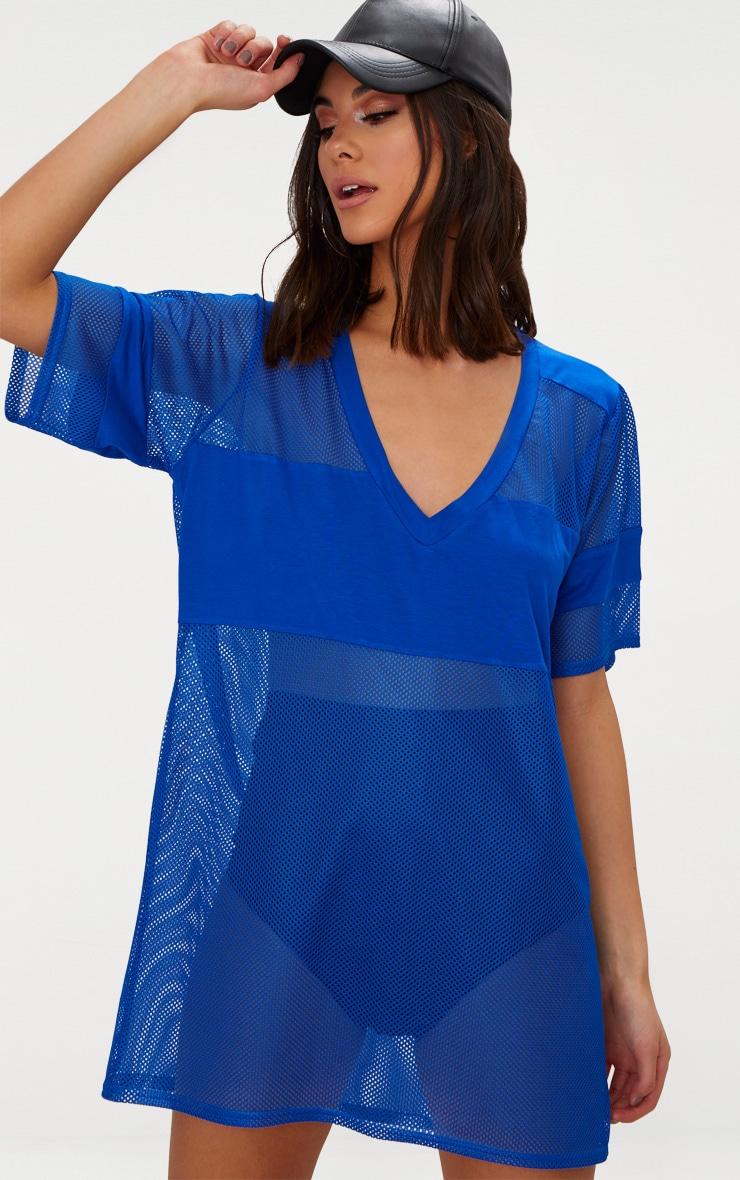 Cobalt Airtex Mesh T Shirt Dress 1