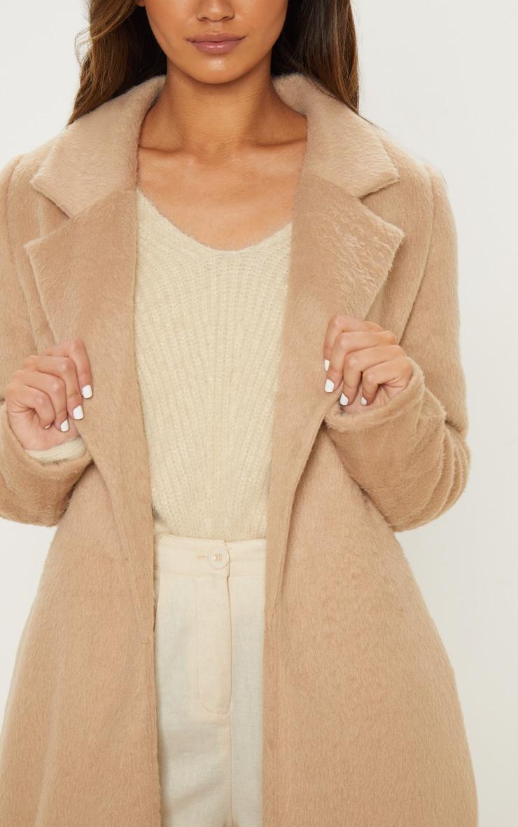 Camel Longline Coat 5