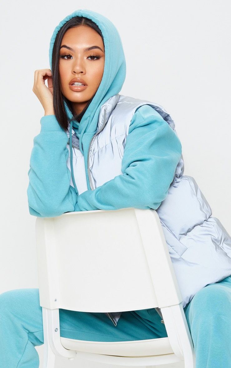Dusty Turquoise Oversized Ultimate Hoodie 5