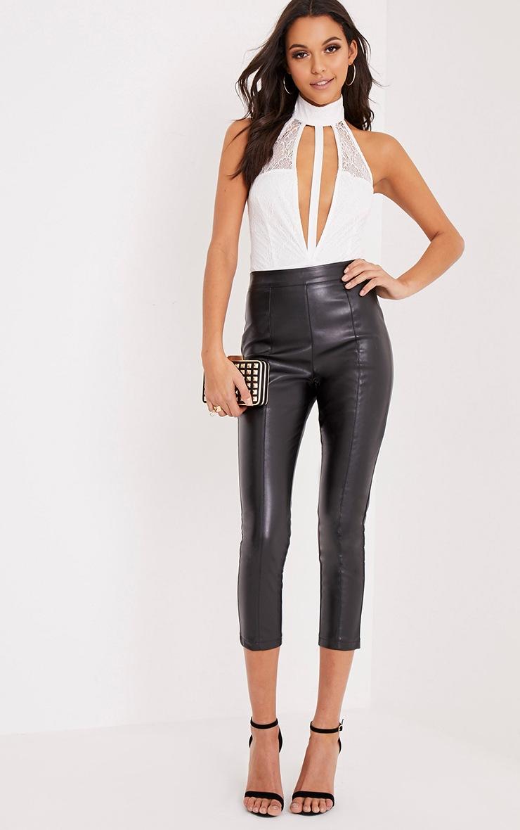 Nidia White Lace Halterneck Thong Bodysuit 6