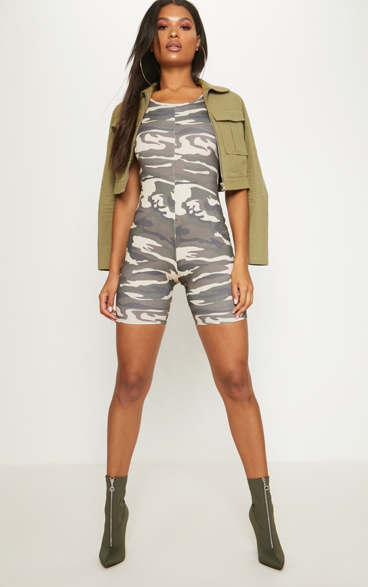 Camo Sleeveless Unitard