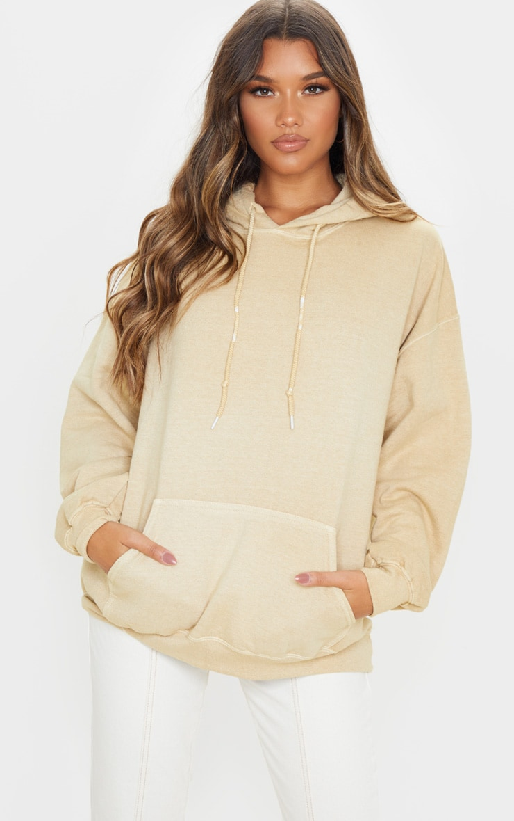 Fawn Washed Ultimate Oversized Hoodie 1