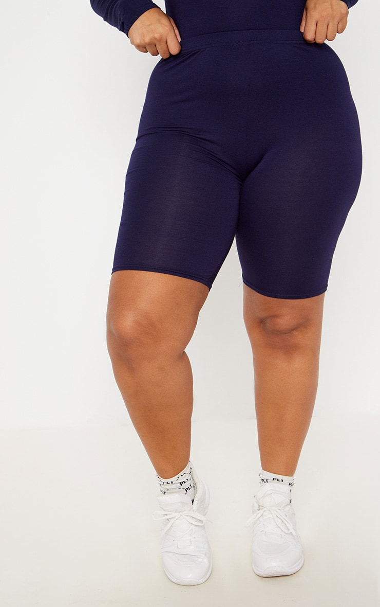Plus Navy Basic Cycle Shorts 2