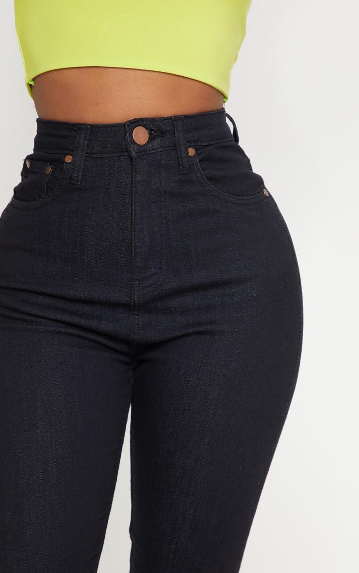 بنطلون جينز ضيق متناسق أسود بخصر مرتفع 5