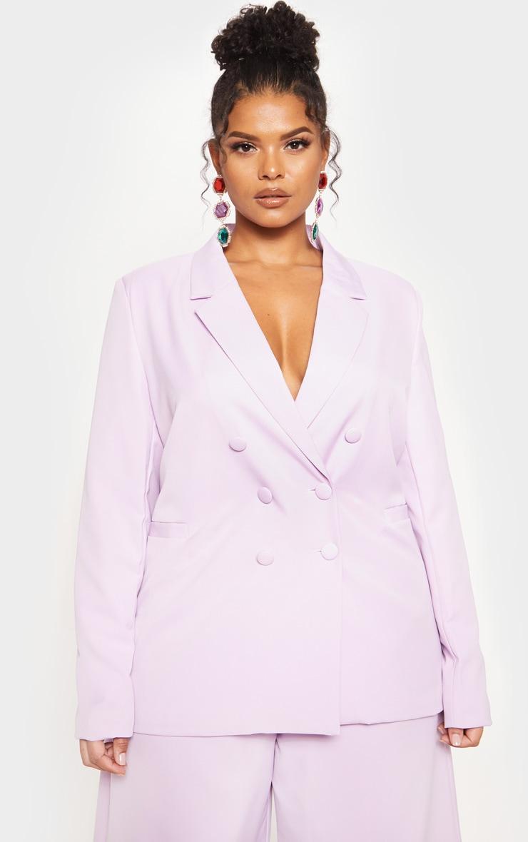 Lilac Oversized Blazer