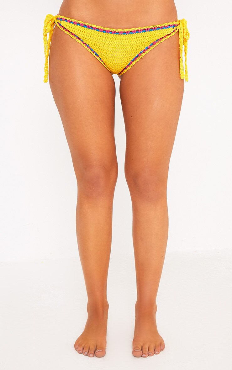 Yellow Crochet Bikini Bottoms 2