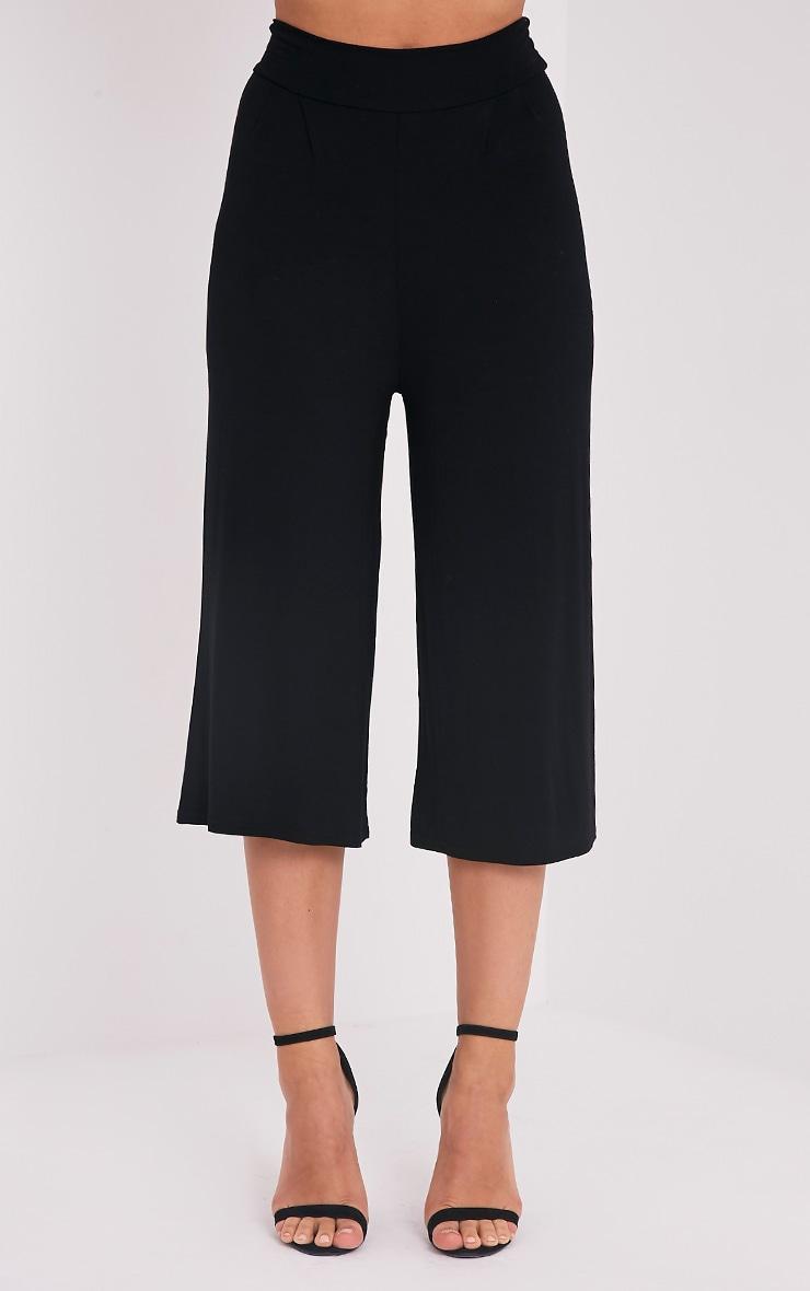 Basic jupe culotte noire 2