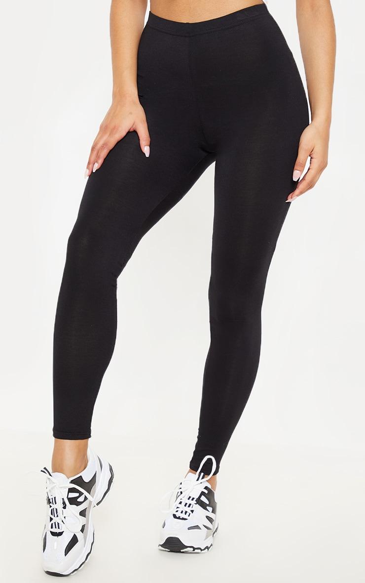 Basic Black Jersey Leggings 3
