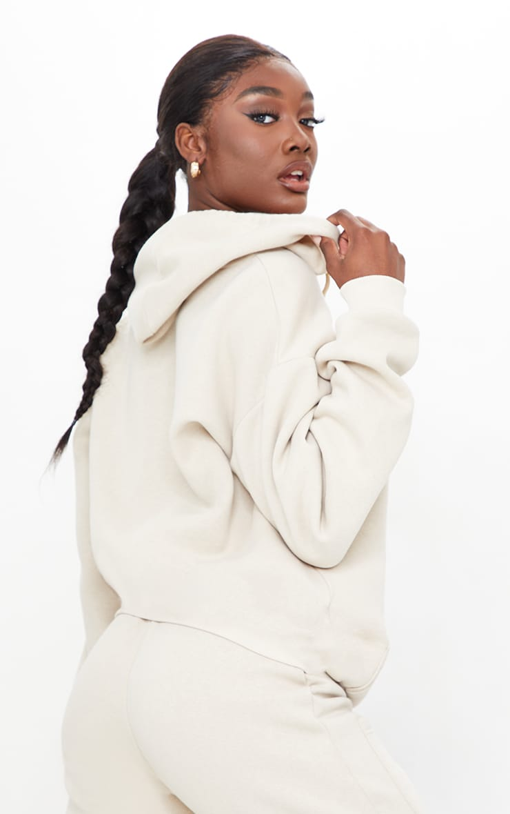 Tall Stone Extreme Oversized Pocket Front Zip Through Hoodie 2