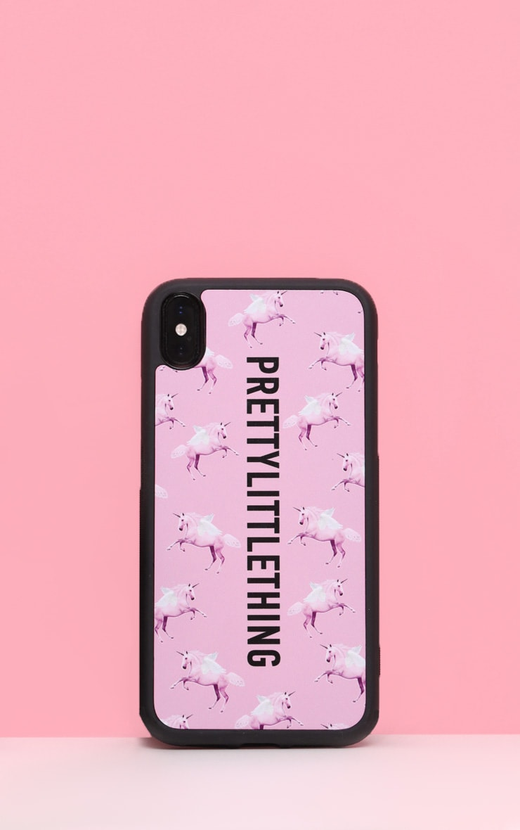 PRETTYLITTLETHING Unicorn Pink  10/X/XS iPhone Case  1