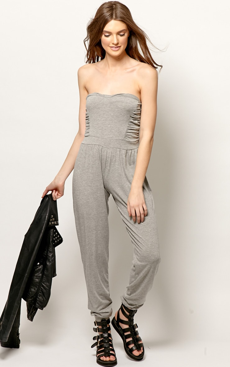 Shelby Grey Ruched Jumpsuit 3