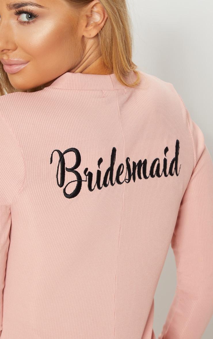f9774cb861e Pale Pink Bridesmaid Embroidered Back PJ Romper image 6
