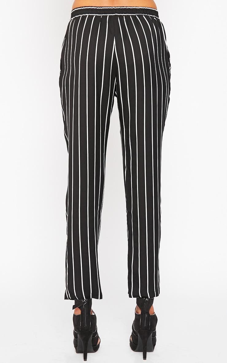 Ariela Black Stripe Trousers 4