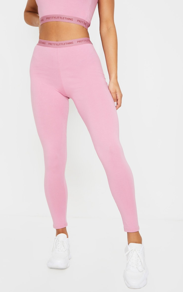 PRETTYLITTLETHING Dusty Pink Leggings 2