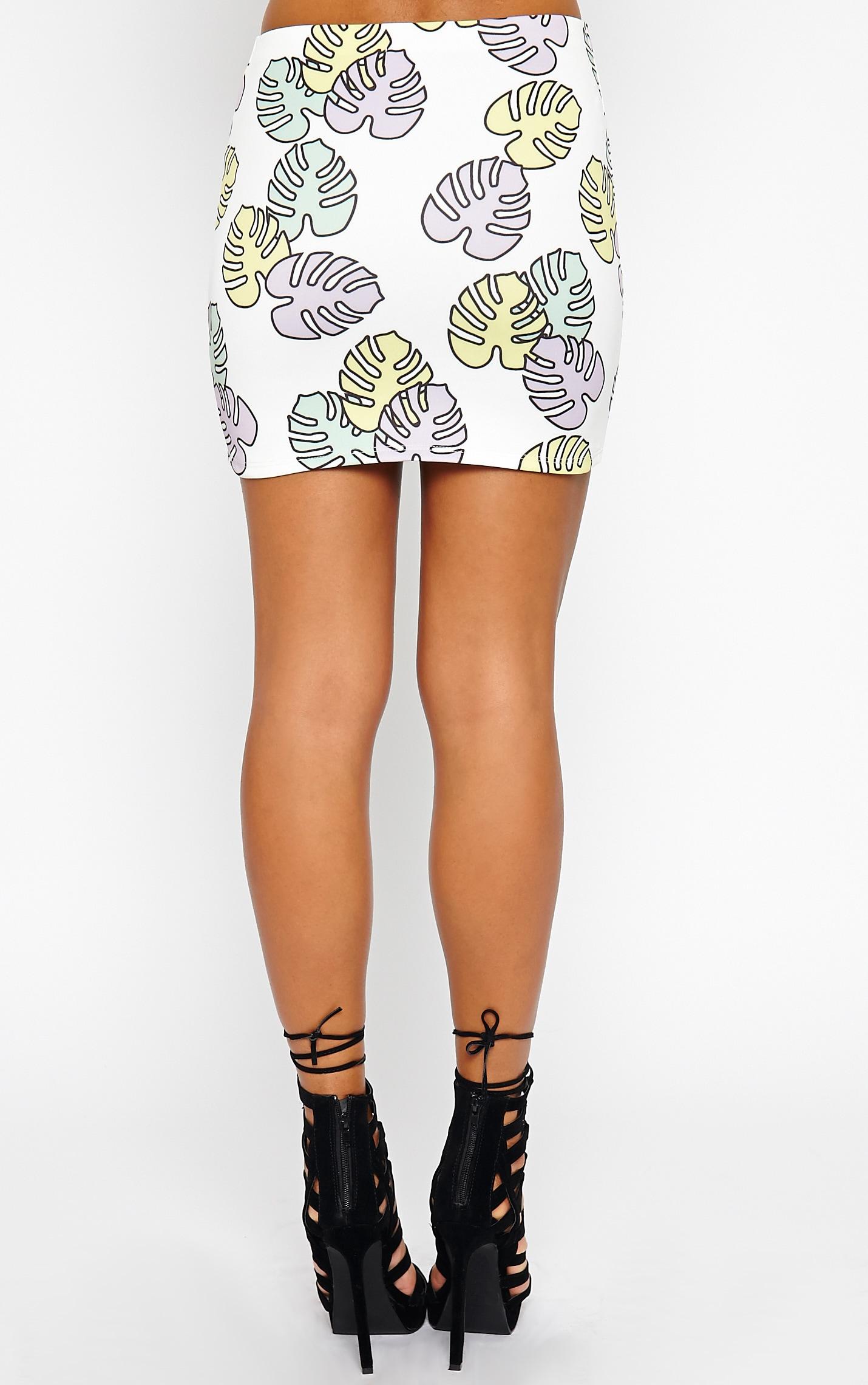 Phoenix Palm Print Skirt 5
