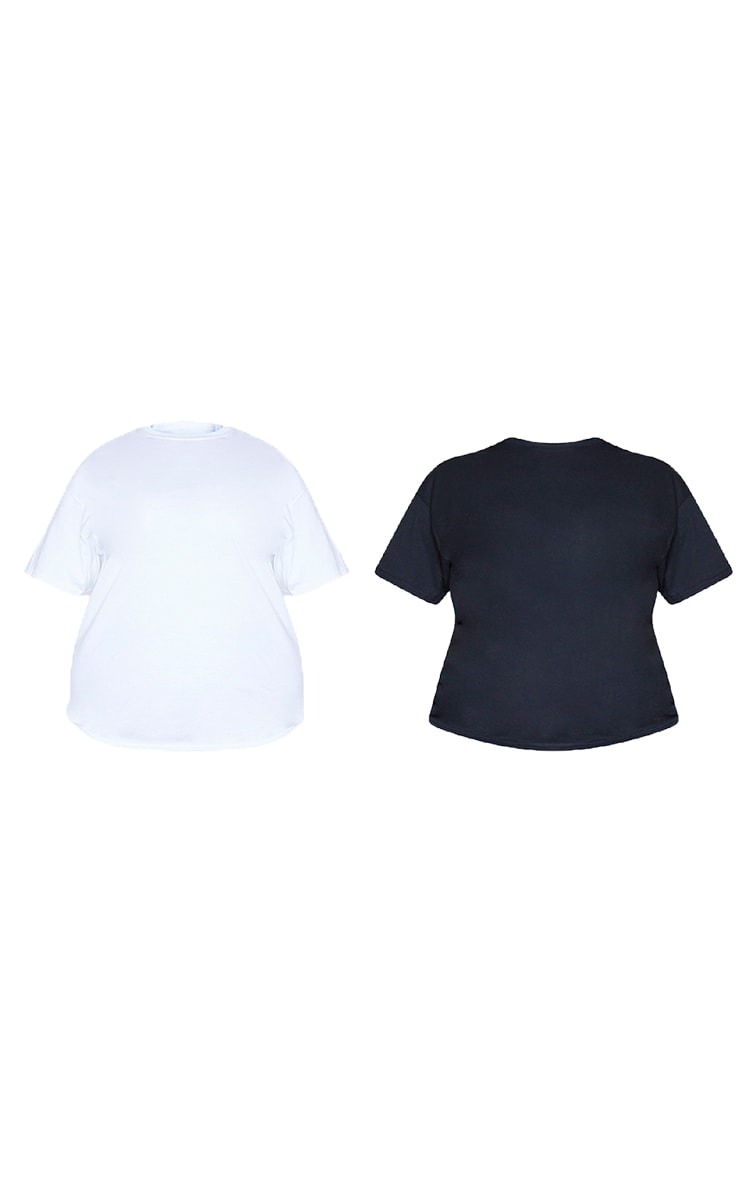 Plus Black & White 2 Pack Ultimate Oversized T Shirt 5