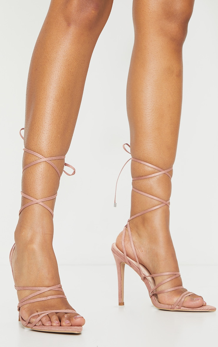 Rose Strappy Gladiator Point Toe Heels 1