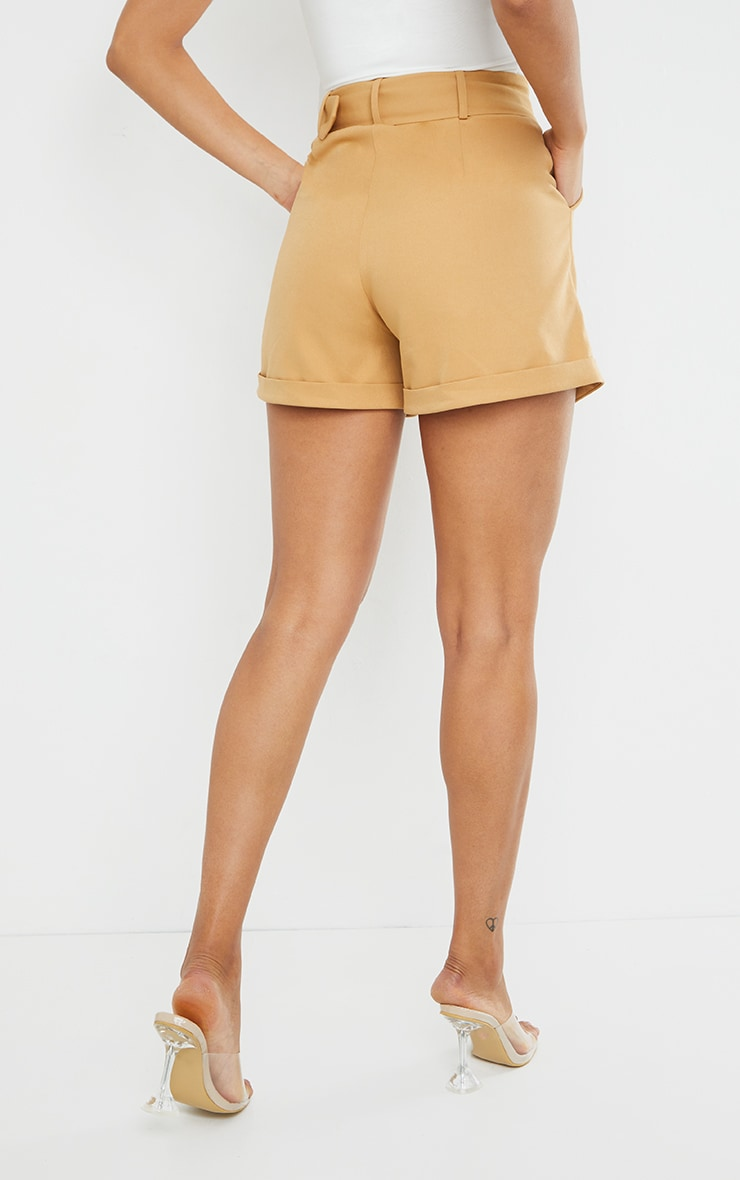 Stone Woven Belted Tailored Short 3