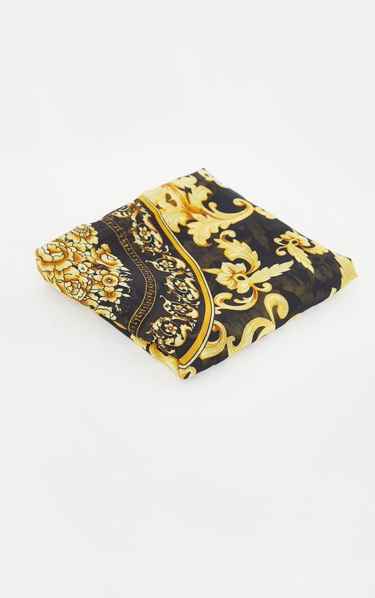 Gold Chain Print Head Scarf 2