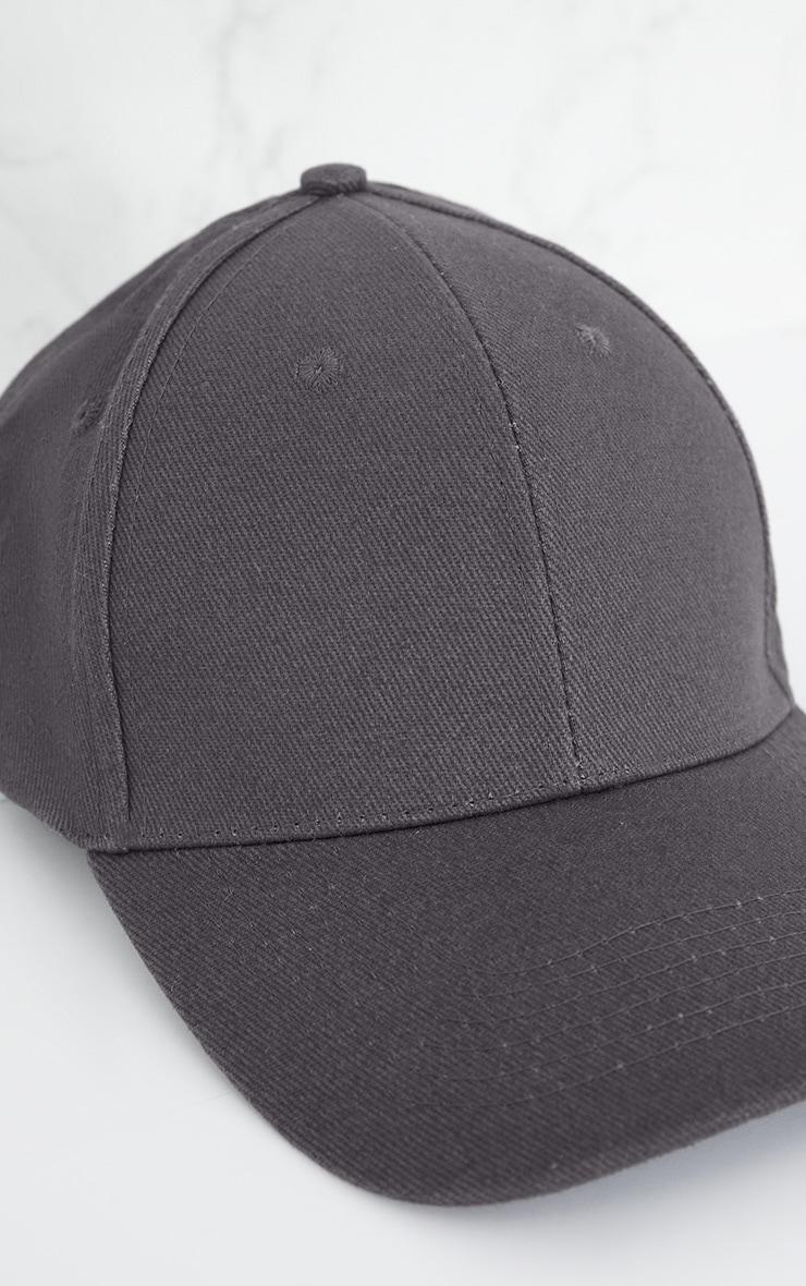 Charcoal Woven Baseball Cap 5