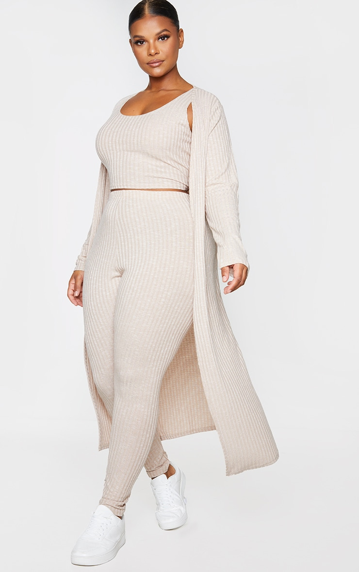 Plus Oatmeal Knitted 3 Piece Legging Set 3
