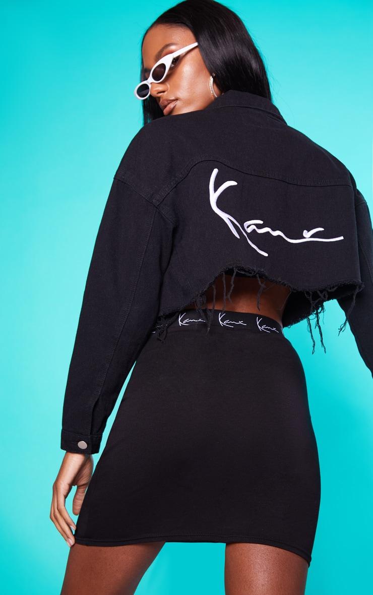 KARL KANI Black Cropped Denim Jacket 2