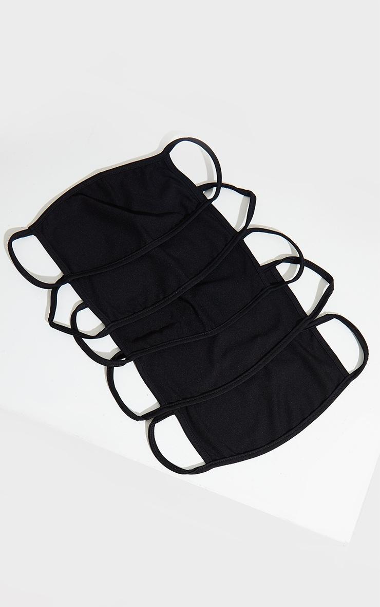 Black 5 Pack Face Mask 1