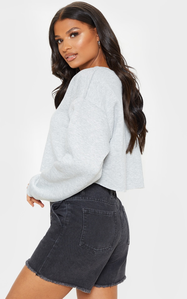 Grey Ultimate Cropped Sweater 2
