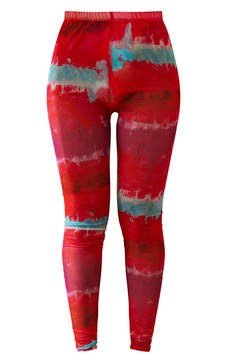 Multi Printed Mesh Leggings 6