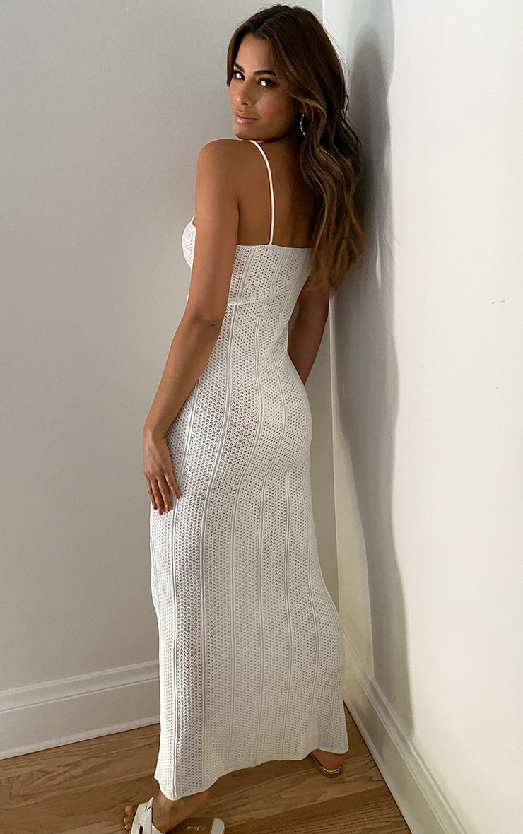 Tall Cream Knitted Maxi Dress 2