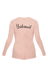 b16d9989119 Pale Pink Bridesmaid Embroidered Back PJ Romper image 4