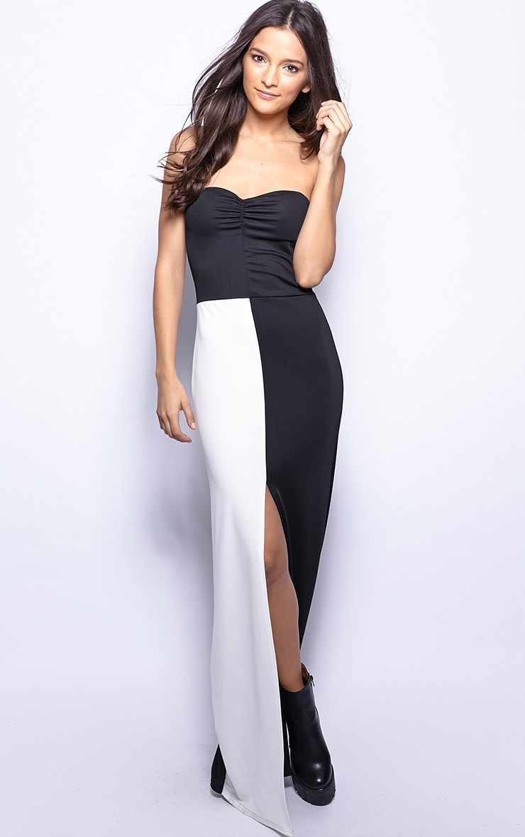 Ivy Monochrome Strapless Maxi Dress-12 1