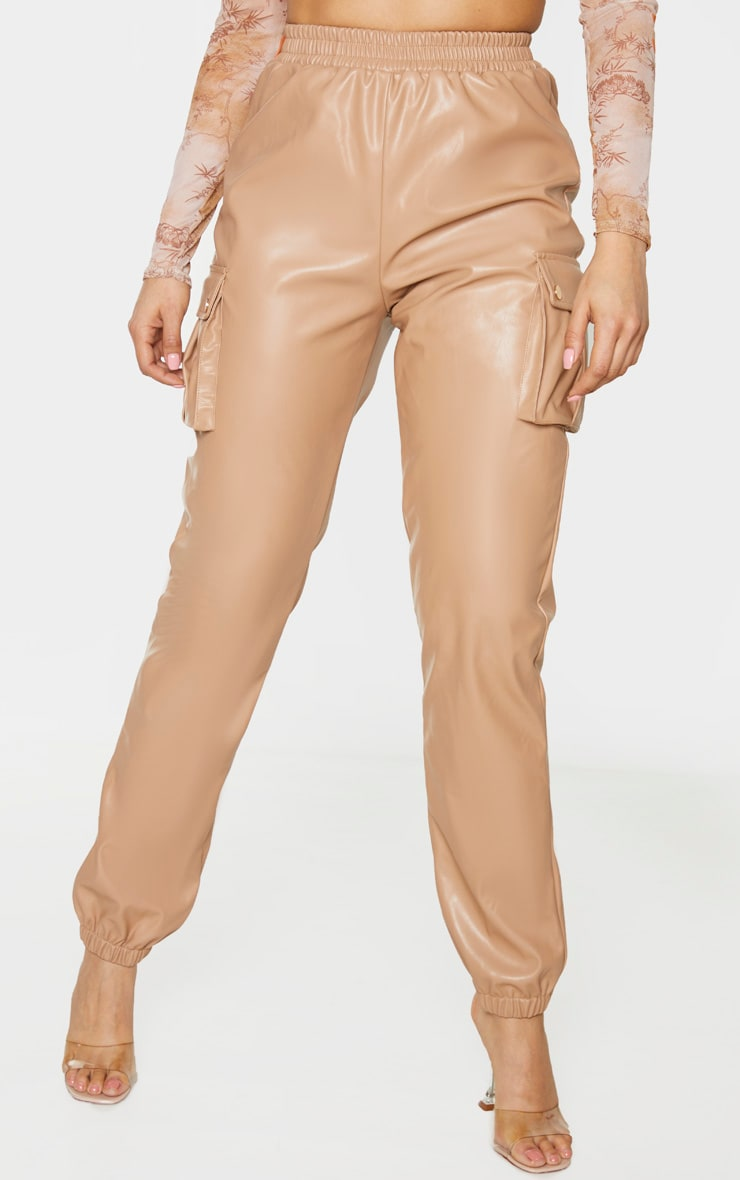 Tall Stone Faux Leather Pocket Detail Jogger 4