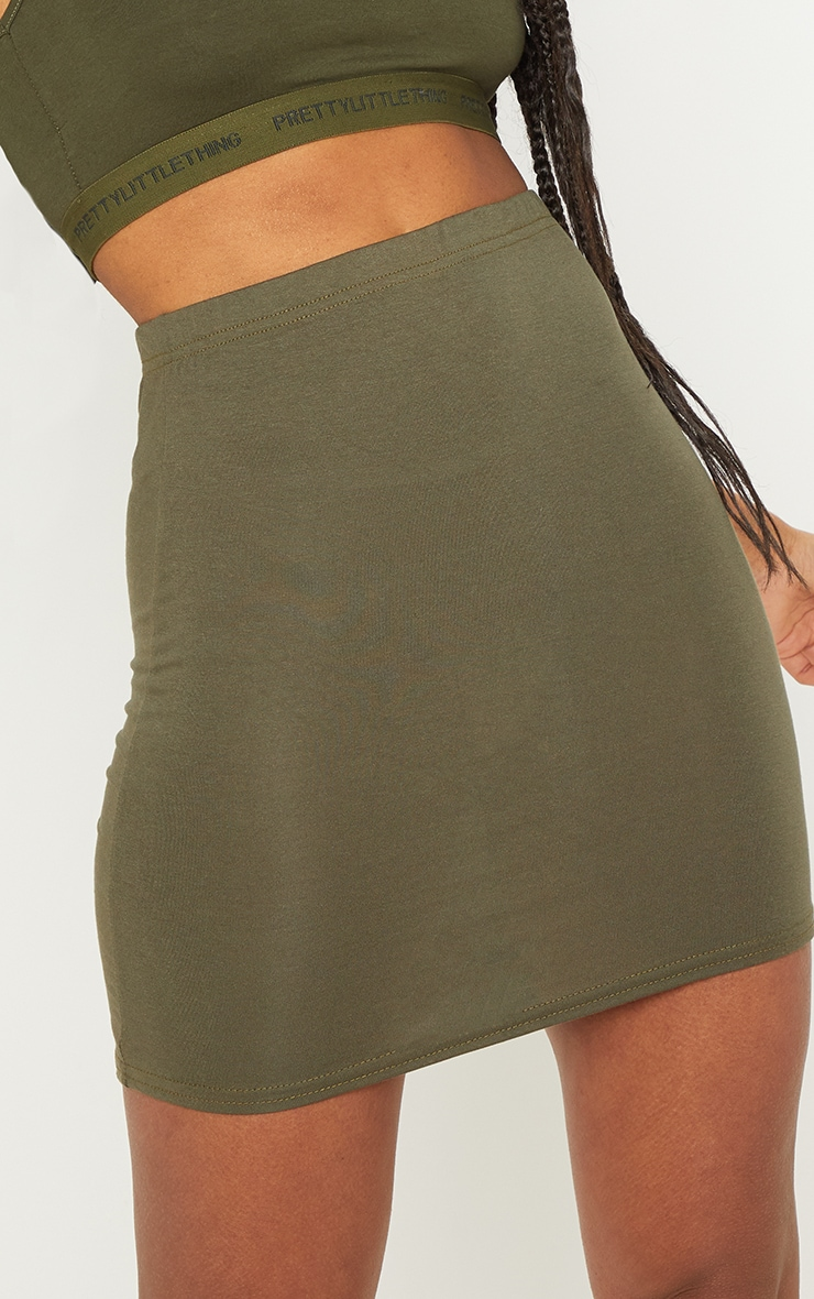 Black Taupe and Khaki Basic Jersey Mini Skirt 3 Pack 5