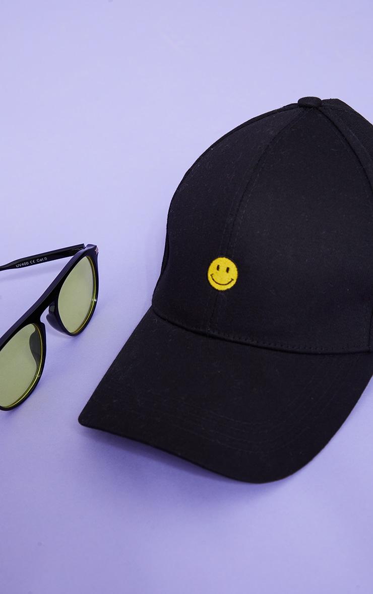 Black Smiley Face Baseball Cap 4