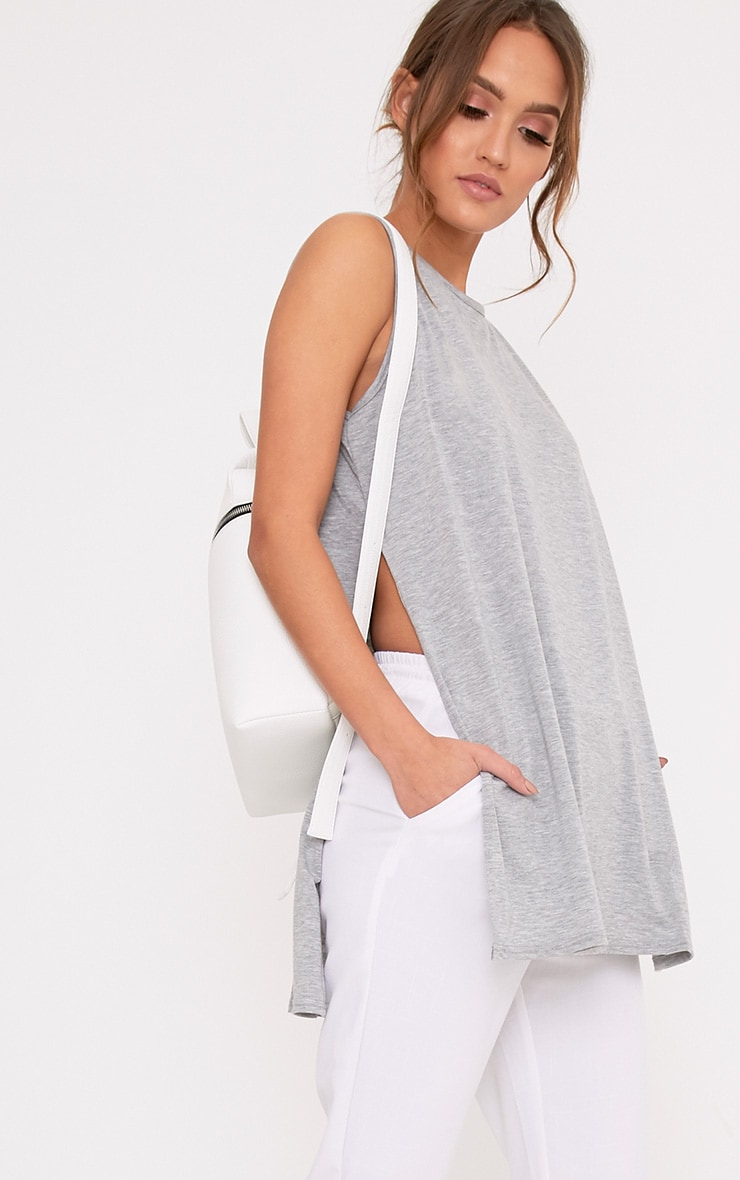 Basic Grey Side Split Vest 1
