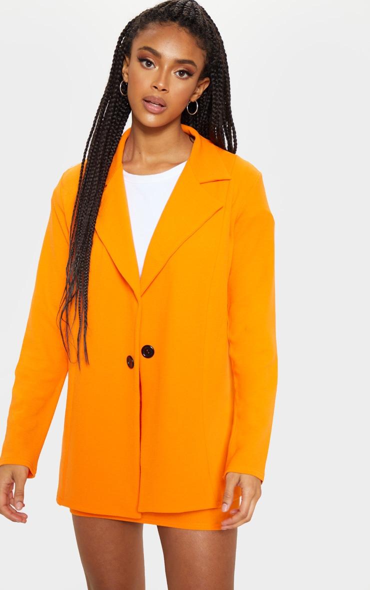 Orange Oversized Blazer 4