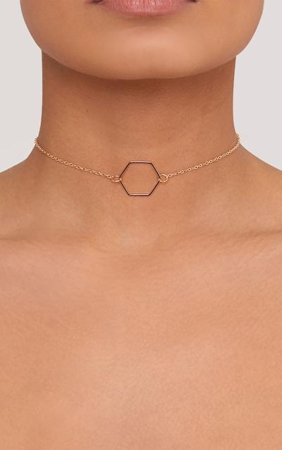 Adreanna Gold Delicate Hexagon Choker