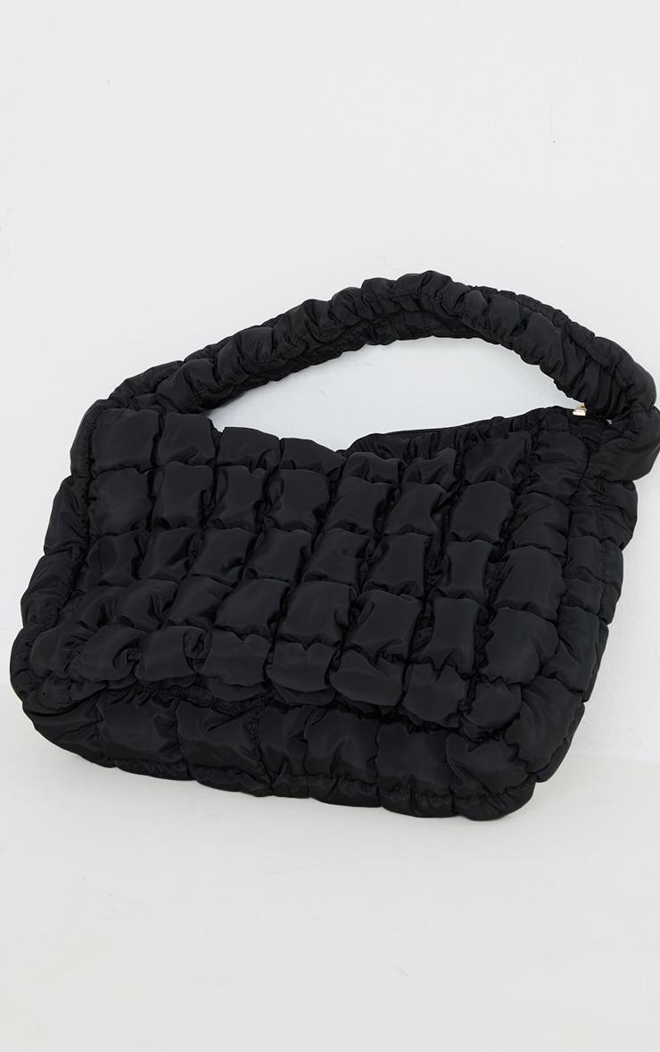 Tote bag oversize matelassé noir chunky 3