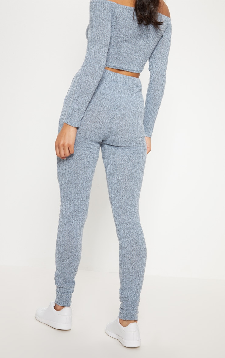 Dusty Blue Bardot Knit Set 7
