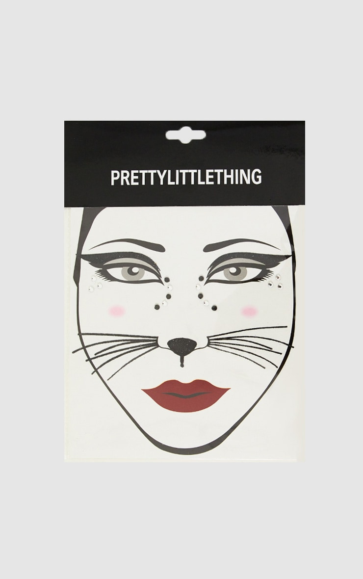 Stickers pour le visage chat à bijoux d'Halloween 3