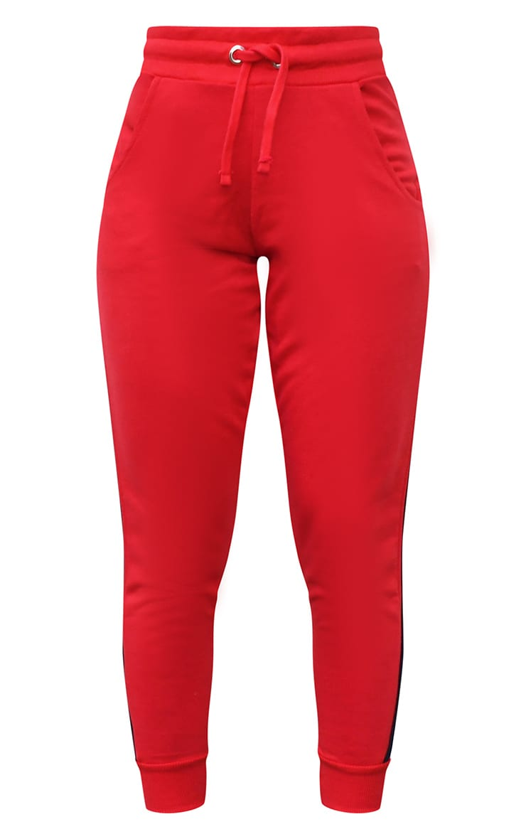 Red Side Stripe Detail Joggers 5