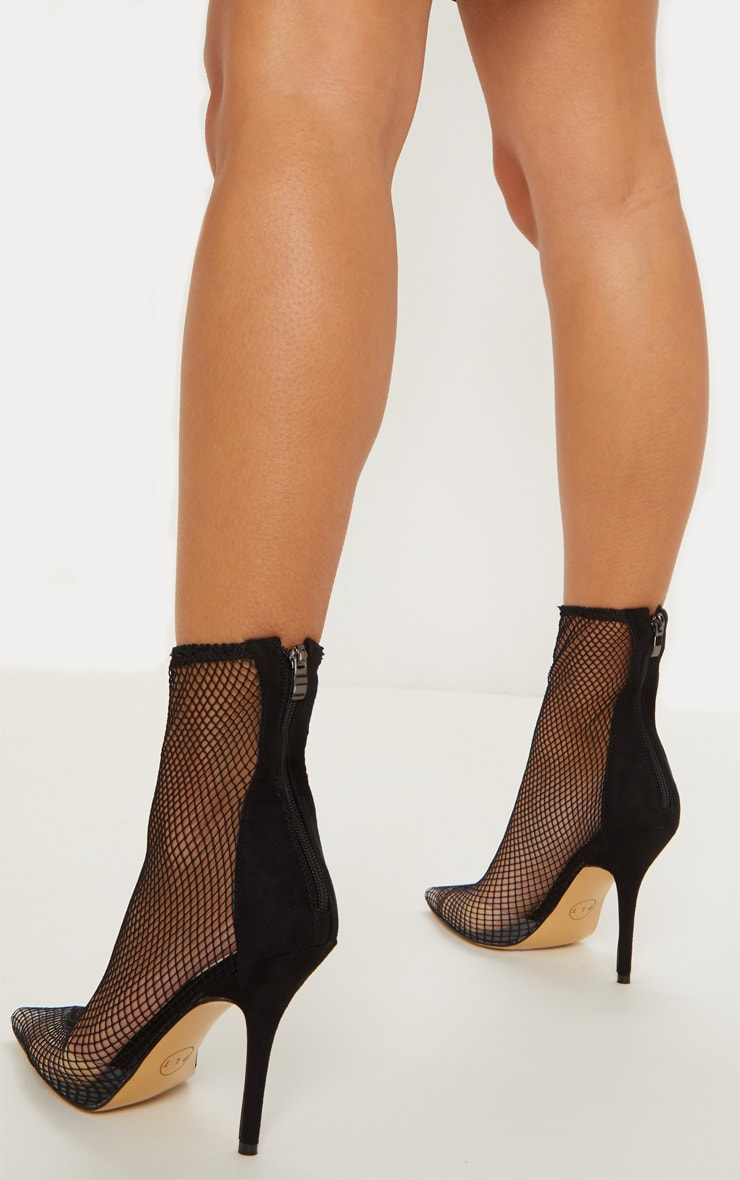 Black Fishnet Sock Boots 2