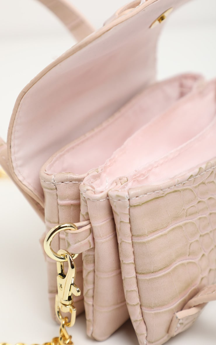 Cream Croc Extra Mini Bag 4