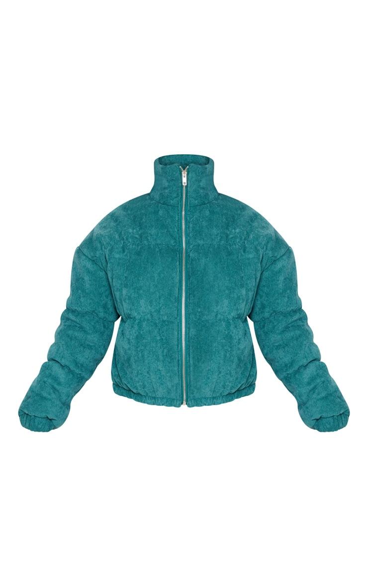 Petite Emerald Green Cord Puffer Jacket 3