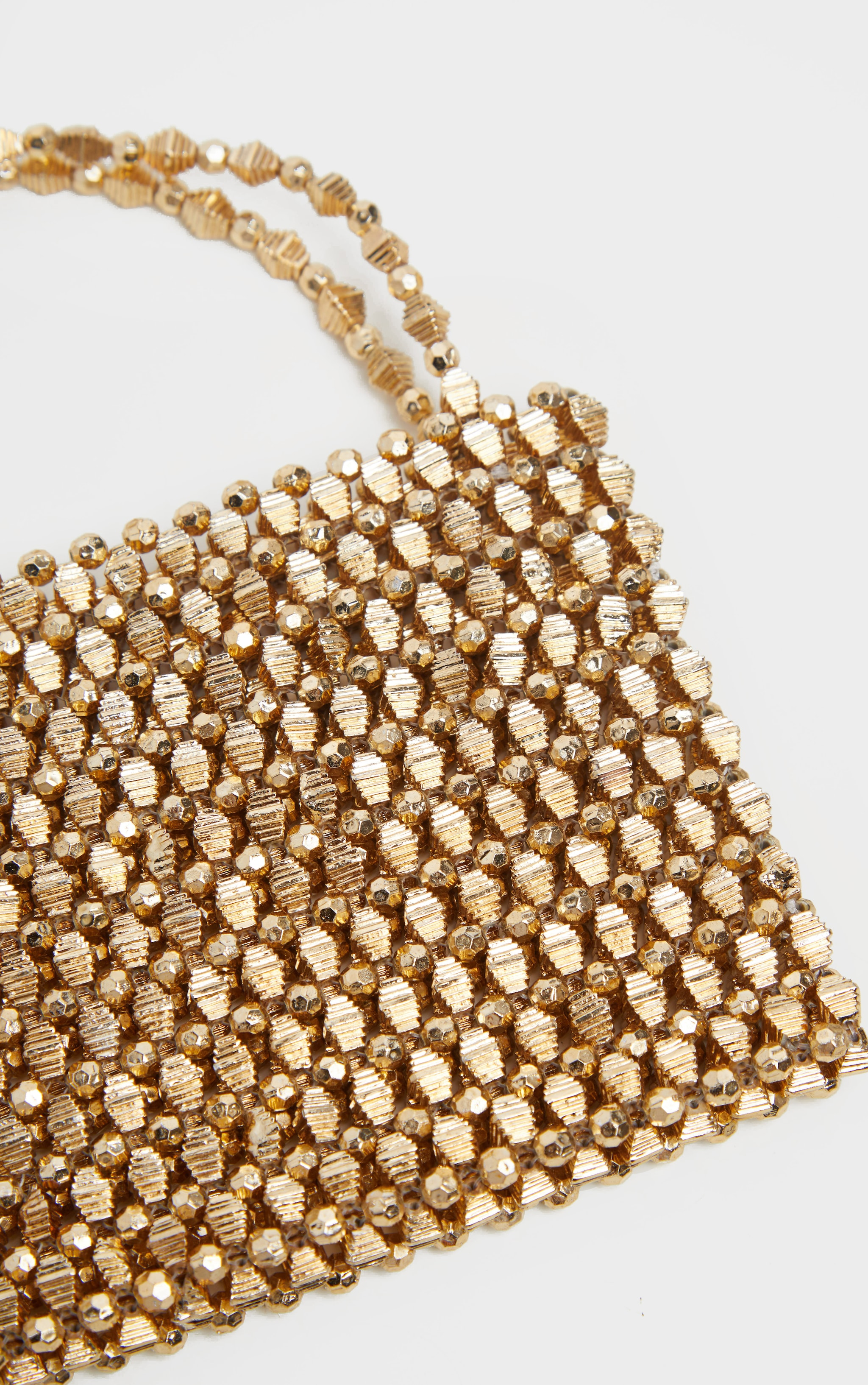 Gold Metallic Beaded Mini Bag 3