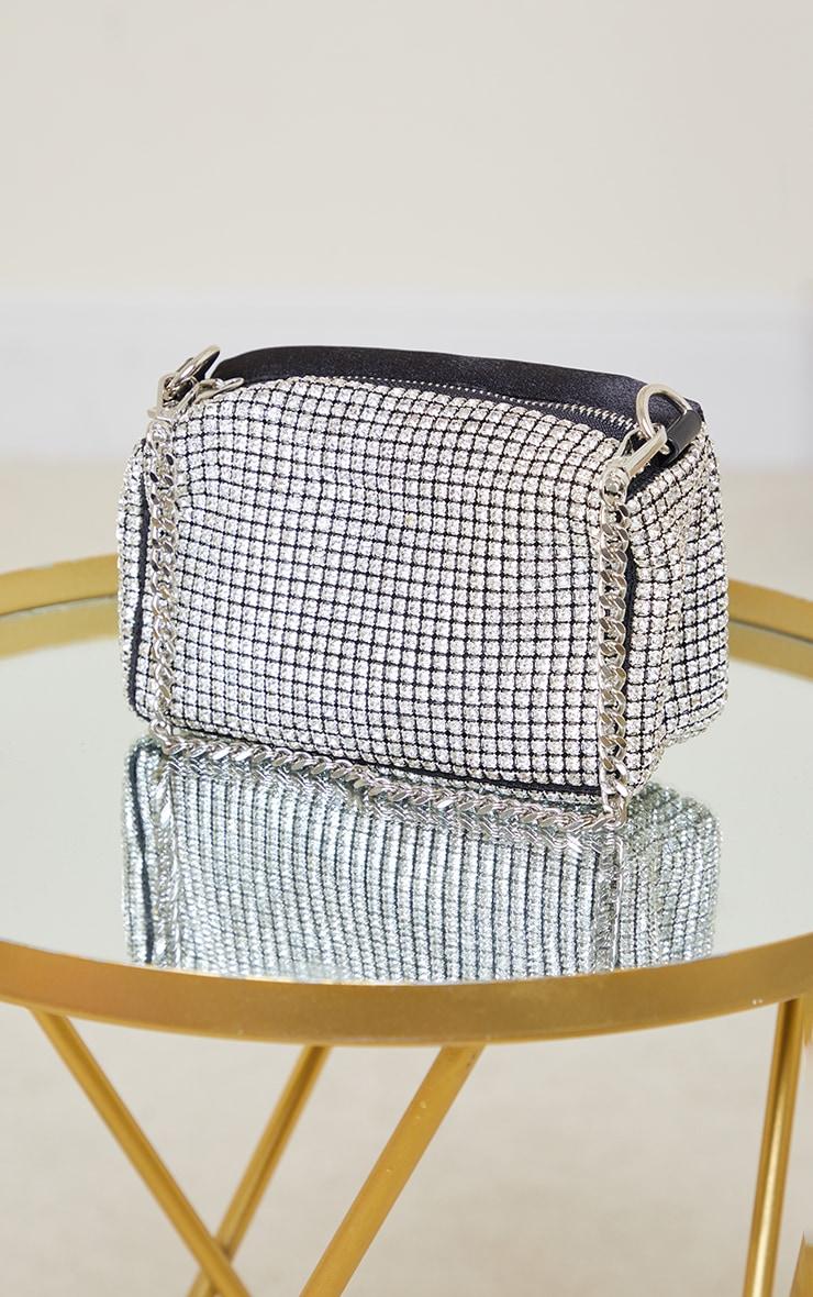 Silver Diamante Shoulder Bag 3