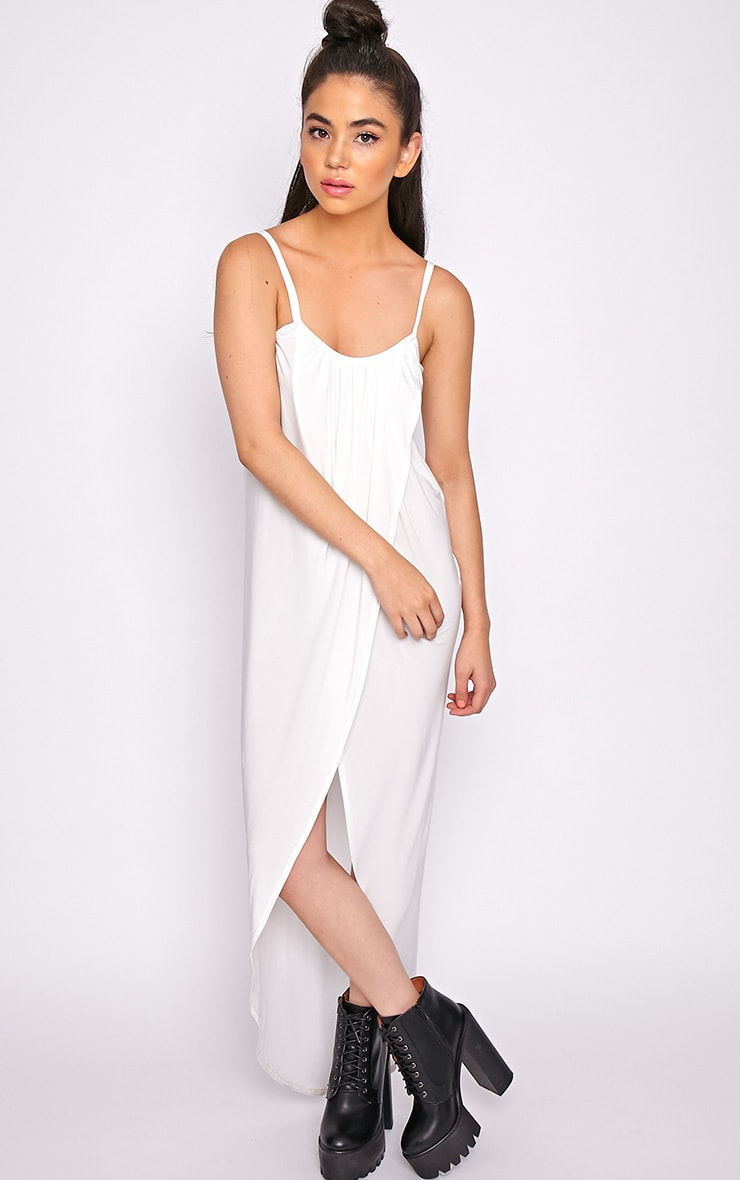 Selma White Extreme Slit Maxi Dress-M/L 4