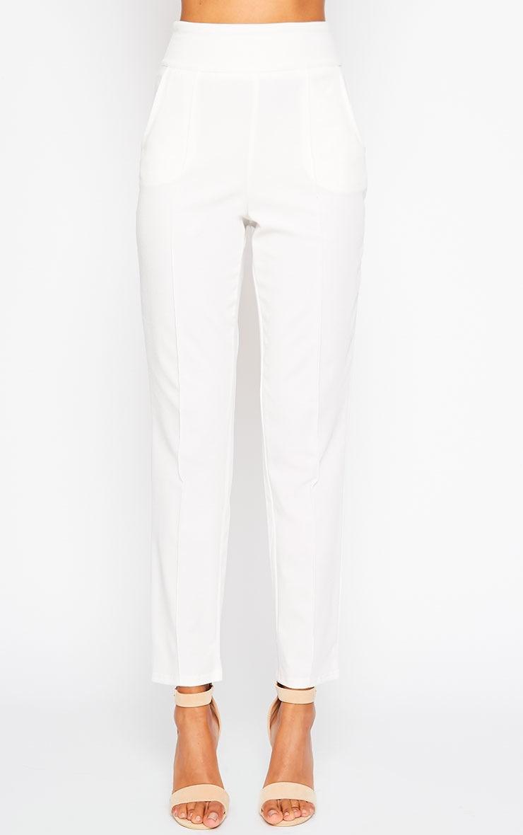 Wendy Cream Front Seam Pants 4